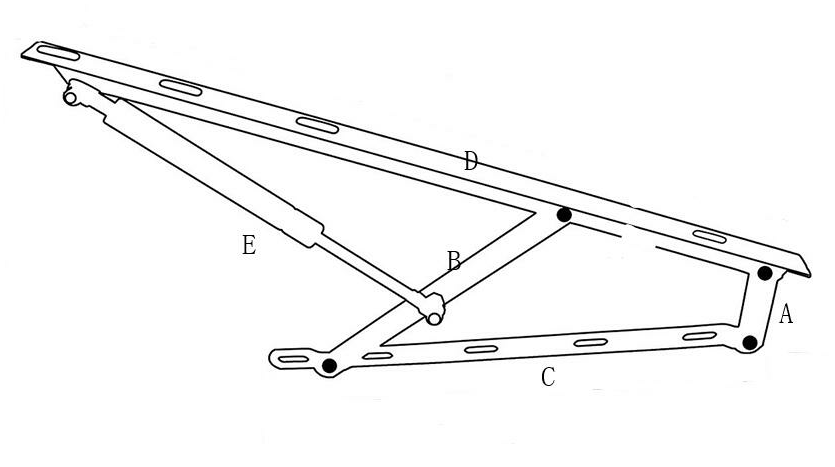 folding <a href=http://www.danaier.com/en/product/ottoman-bed-lift-mechanism-gas-spring.html target='_blank'>bed lift mechanism</a>
